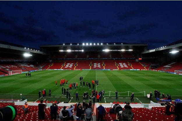 Ici entraînement du PSG lundi à Liverpool.