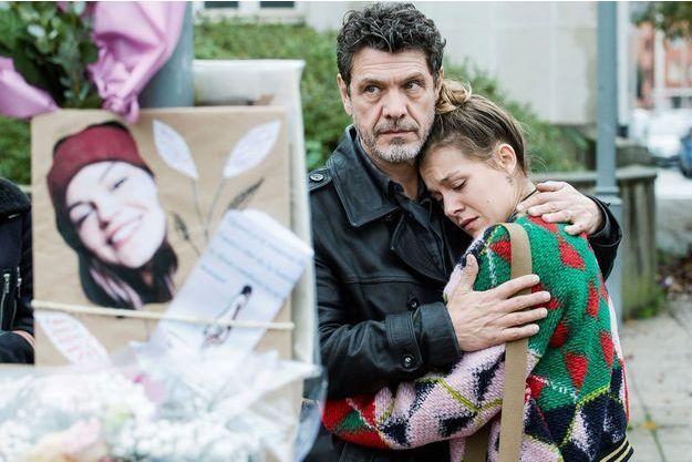 """Marc Lavoine et sa fille Yasmine dans """"Kepler(s)""""."""