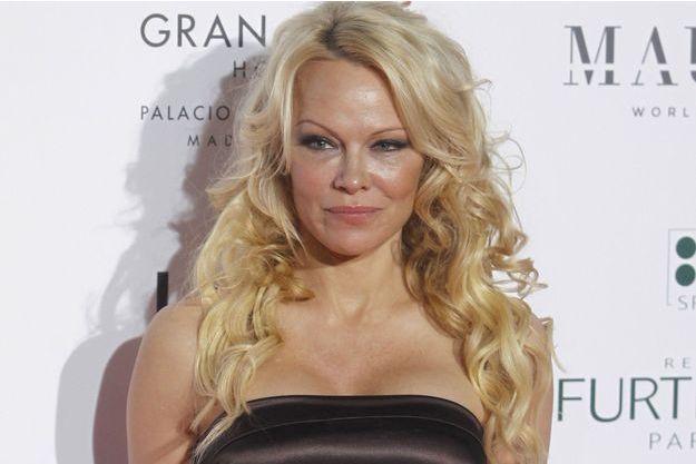 Pamela Anderson en mars 2018 à Madrid.