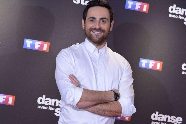 """Camille Combal à la présentation presse de """"Danse avec les stars""""."""