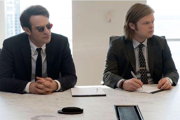 Charlie Cox (Mathew Murdock) et Elden Henson (Foggy Nelson).