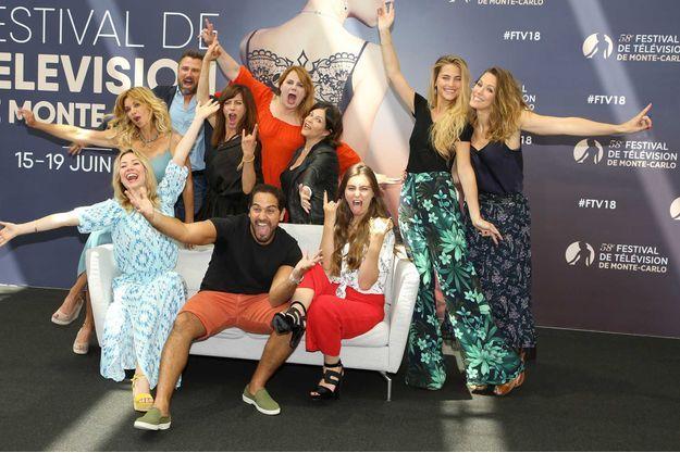 """Le casting de """"Demain nous appartient"""" au festival de la télévision de Monte-Carlo, samedi 16 juin."""