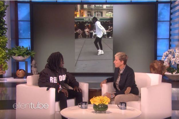 """Salif Gueye dans le """"Ellen Show"""", le 6 novembre 2018"""