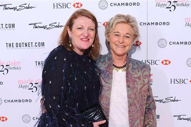Glenda Bailey et Evelyne Prouvost (à droite), en 2013.