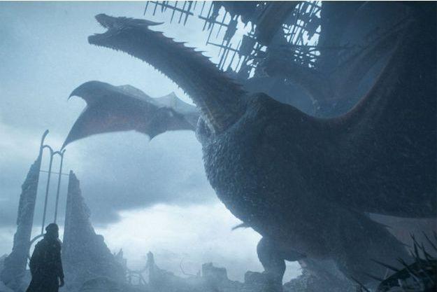 """Drogon dans le dernier épisode de """"Game of Thrones""""."""