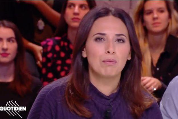 """Salhia Brakhlia, l'une des journalistes de """"Quotidien"""" prise à partie par les manifestants samedi sur les Champs-Elysées."""