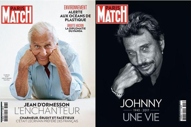 Jean d'Ormesson et Johnny Hallyday, deux numéros exceptionnels de Paris Match