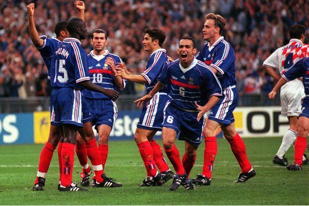 Les Bleus le 8 juillet 98 contre la Croatie.