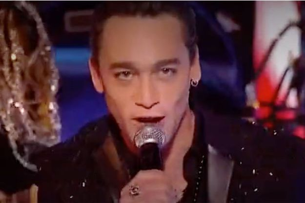 "Jean-Baptiste Guégan lors de la finale de ""La France a un incroyable talent""."