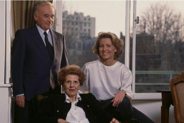 Claire Chazal, aux côtés de ses parents, Jean et Josette.