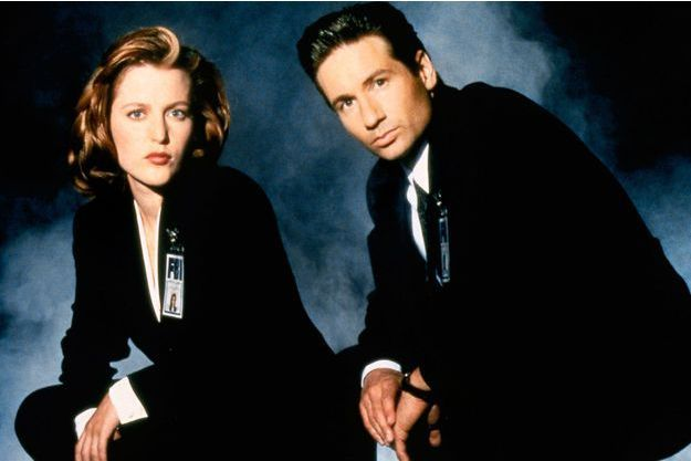 Gillian Anderson (Dana Scully) et David Duchovny (Fox Mulder) .