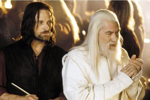 """Viggo Mortensen et Ian McKellen dans """"Le Seigneur des anneaux""""."""