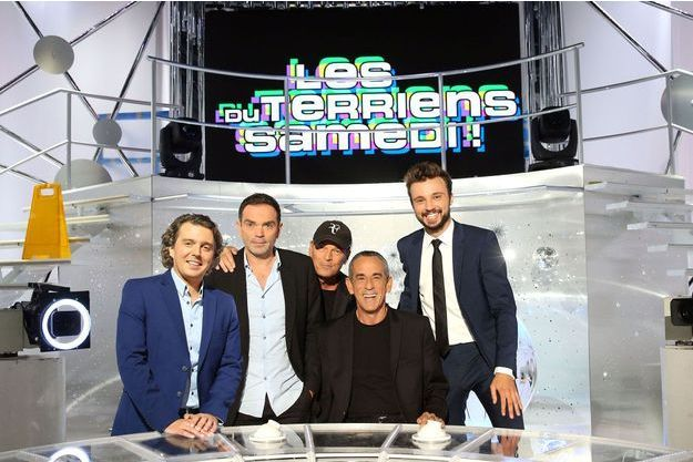 Alex Vizorek, Yann Moix, Laurent Baffie, Thierry Ardisson et Tom Villa.