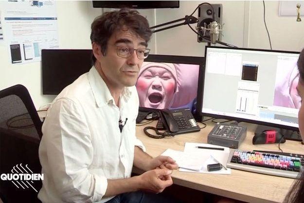 Le journaliste Michel Izard, à l'origine de la pastille polémique sur les footballeuses au JT de 13h de TF1.
