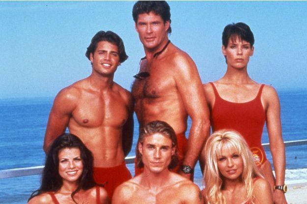 """Le casting d'""""Alerte à Malibu"""" en 1995."""