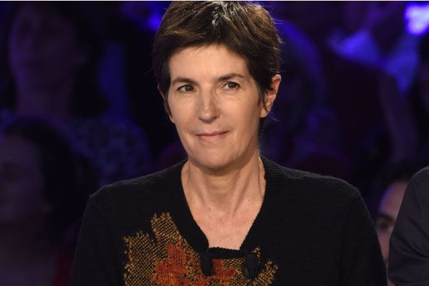 """Christine Angot sur le plateau d'""""ONPC""""."""