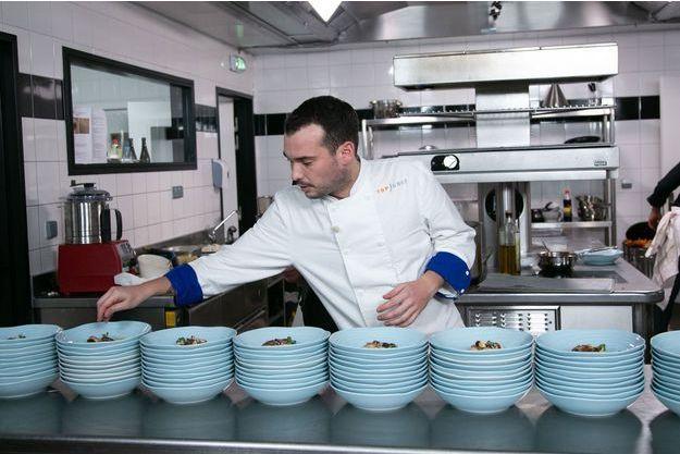 "Samuel lors de la finale de ""Top Chef""."
