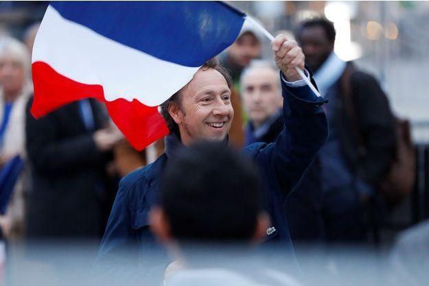 Stéphane Bern, le 7 mai au Louvre, soir de l'élection d'Emmanuel Macron.