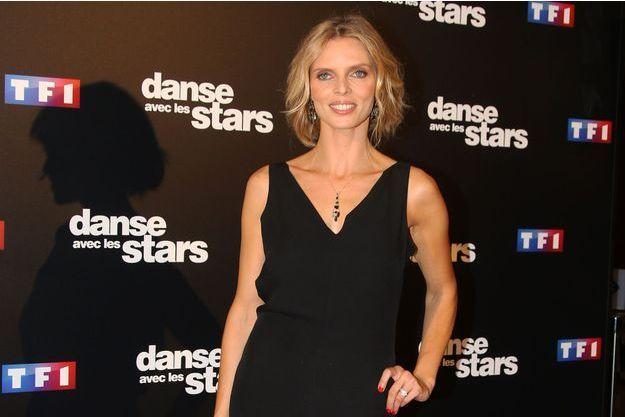 """Sylvie Tellier lors de la conférence de présentation de la nouvelle saison de """"Danse avec les stars"""" le 28 septembre à Paris."""