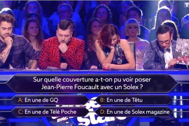 """La parodie de """"Qui veut gagner des millions"""" dans """"Danse avec les stars, la suite""""."""
