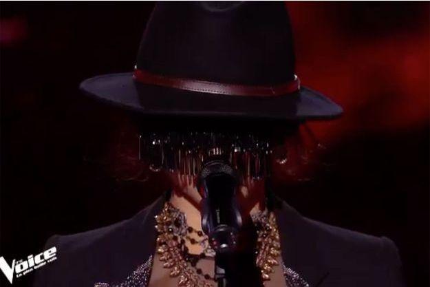 """Monstre sur le plateau de """"The Voice"""" samedi."""