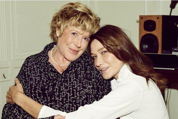Marianne Faithfull et Carla Bruni