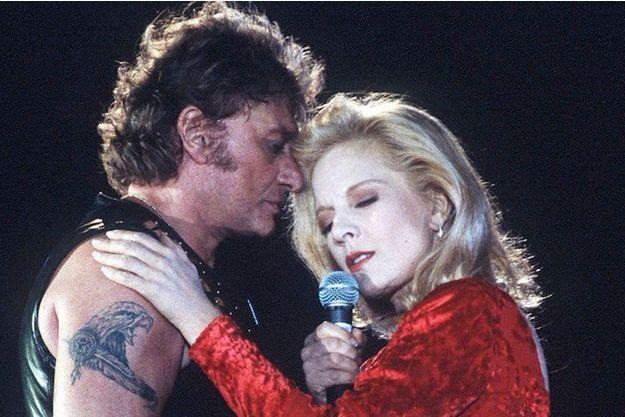 Sylvie Vartan et Johnny Hallyday en 1993.