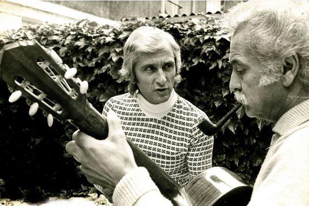 Marcel Amont et Georges Brassens, complices à la scène comme à la ville. Des copains d'abord !