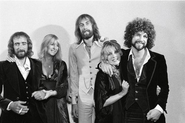 En septembre 1976, John McVie, Stevie Nicks, Mick Fleetwood, Christine McVie et Lindsey Buckingham.