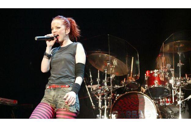 Garbage en concert à Seattle en 2005.