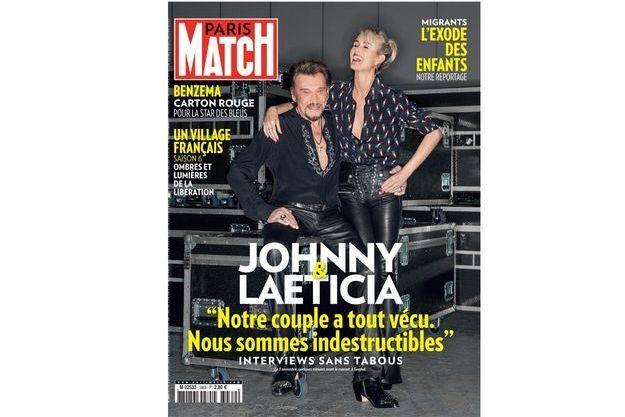Johnny et Laeticia en Une de Match cette semaine.