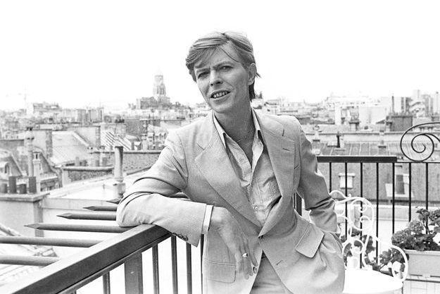 David Bowie à Paris en juin 1977.