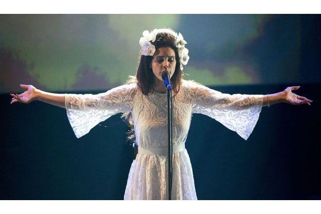 Lana Del Rey au Montreux Jazz Festival en juillet.
