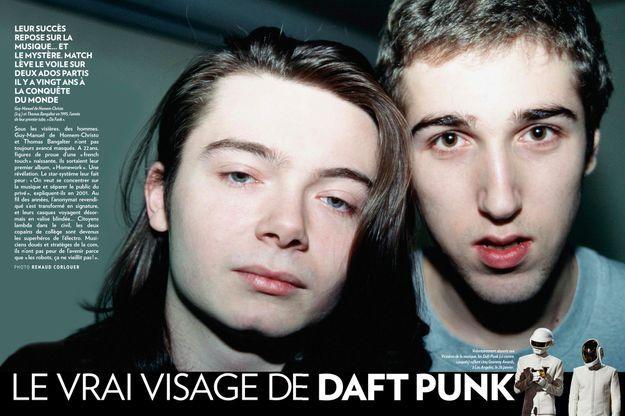 Guy-Manuel de Homem-Christo (à g.) et Thomas Bangalter en 1995, l'année de leur premier tube, « Da Funk ».