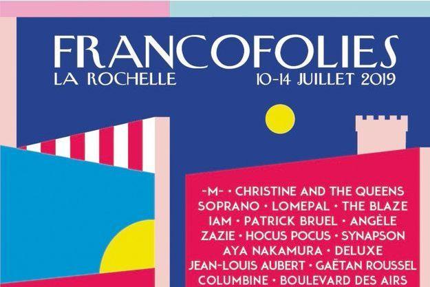 L'affiche des Francofolies 2019.