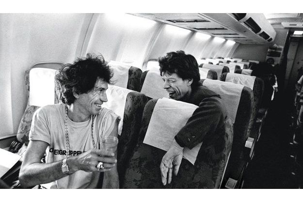 Keith Richards et Mick Jagger (1990).
