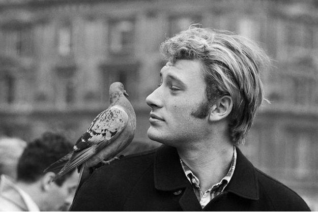 Johnny Hallyday à Londres en novembre 1965.