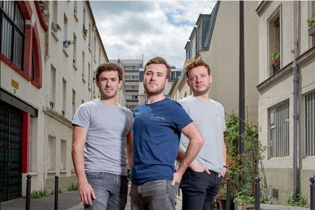 Arnaud Bonnet, Pierre Della Monica et Nicolas Boisseleau.