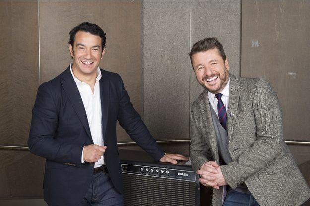 Le duo d'animateurs des Victoires de la musique, Thomas Thouroude et Bruno Guillon.