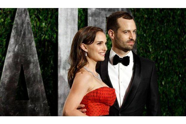 Benjamin Millepied, aux côtés de son épouse Natalie Portman.