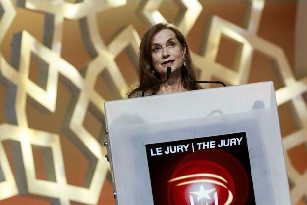 Isabelle Huppert, lors de la cérémonie d'ouverture du 14e Festival de Marrakech.