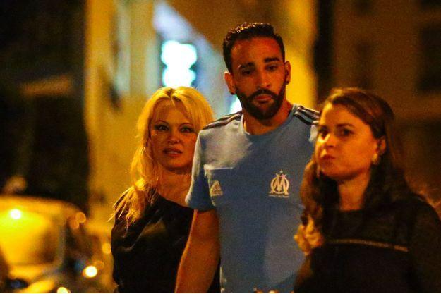 Pamela Anderson et Adil Rami à Marseille le 24 septembre 2017