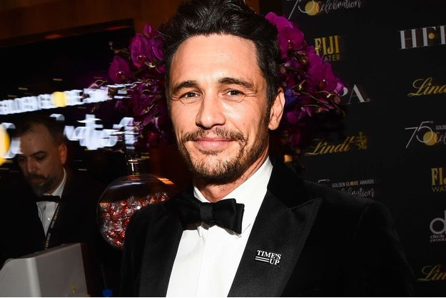 James Franco à la cérémonie des Golden Globes 2018.