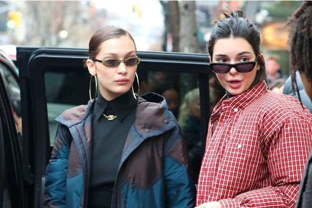 Bella Hadid et Kendall Jenner à New York en janvier 2018