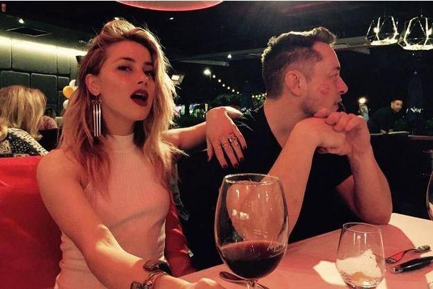 Amber Heard et Elon Musk en mai 2017.