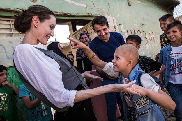 Angelina Jolie s'est rendue à Mossoul.