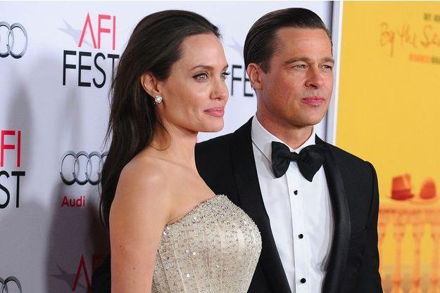 Angelina Jolie et Brad Pitt le 5 novembre 2015 à Hollywood