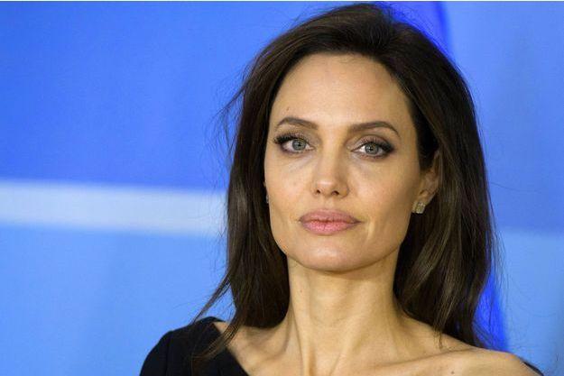 Angelina Jolie en visite à l'OTAN à Bruxelles le 31 janvier 2018.