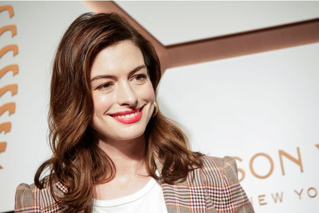 Anne Hathaway à New York, le 14 mars 2019