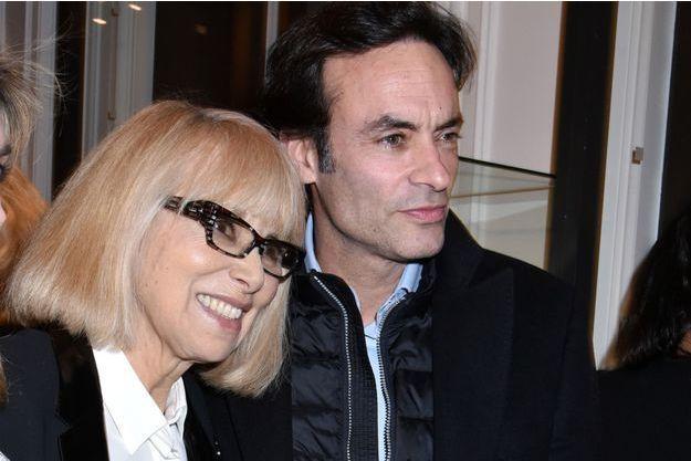 Mireille Darc et Anthony Delon en janvier 2016.